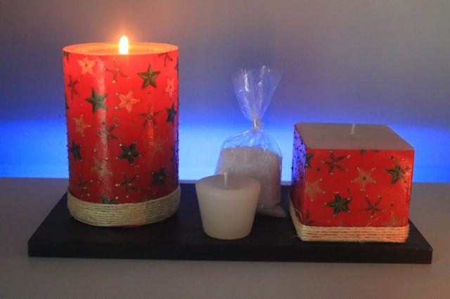 Luminária Artesanal Aromática feita de parafina decorada com temas diversos tamanho 10x10