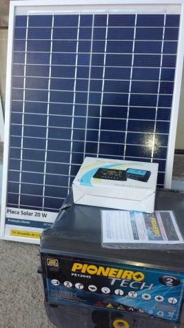 Kit Solar Portátil Off Grid 20W. Sistema autônomo de Energia.