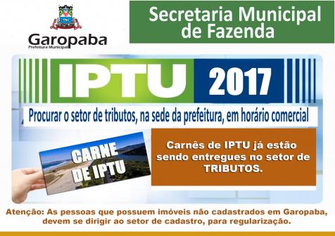 Prefeitura de Garopaba começa a distribuir os carnês do IPTU 2017