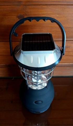 Lampião de 36 led com dínamo carregador solar