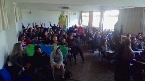 Eco Garopaba Palestra para escola João Gonçalves Pinheiro, no Rio Tavares em Florianópolis