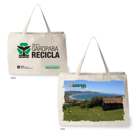 Sacolas Ecológicas Edição Projeto Garopaba Recila - Tema Visual Morro Silveira
