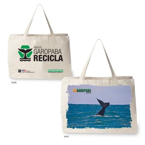 Sacolas Ecológicas Edição Projeto Garopaba Recila Tema Baleia Franca