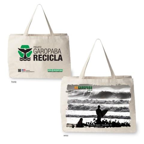 Sacolas Ecológicas Edição Projeto Garopaba Recila Tema Capital Catarinense do Surf