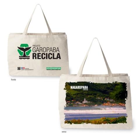 Sacolas Ecológicas Edição Projeto Garopaba Recila Tema Praia da Garopaba
