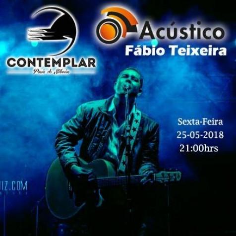 Hoje tem Acústico com Fabio Teixeira no Contemplar Praia do Silveira.