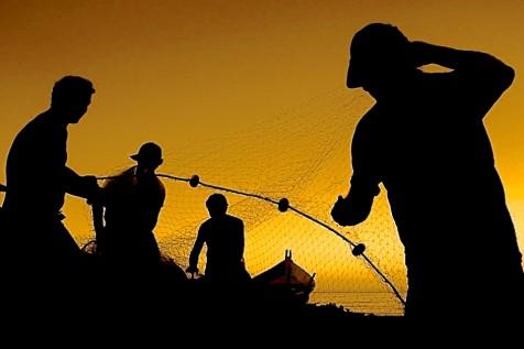 Pesca da Tainha - Garopaba - SC 40X60CM