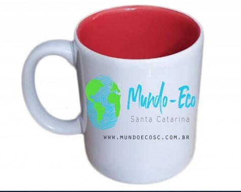 Combo Mundo Eco SC caneca e camiseta  de algodão.